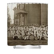 Eagle Band's Drum Corps. Native Sons Of The Golden West  Circa 1908 Shower Curtain