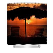 Eagle Beach Sunset Shower Curtain