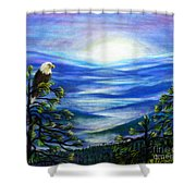 Eagle Blue Ridge Mountain Sunrise Shower Curtain