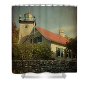 Eagle Bluff Lighthouse Shower Curtain