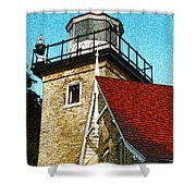 Eagle Bluff Lighthouse Re-imagined Shower Curtain