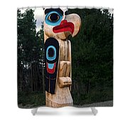 Eagle Clan Totem Pole Shower Curtain
