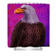 Eagle Crimson Skies Shower Curtain