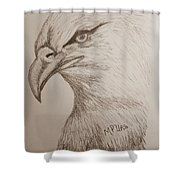 Eagle Drawing 1 Shower Curtain