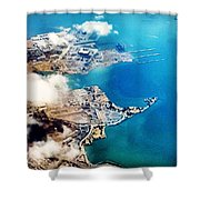 Eagle Eye Of An Ocean Bay Shower Curtain