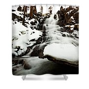 Eagle Falls Raging On Ice Shower Curtain