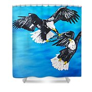 Eagle Fight Shower Curtain