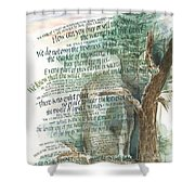 Eagle Gone Shower Curtain by Judy Dodds