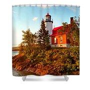 Eagle Harbor Lighthouse, Michigan Shower Curtain
