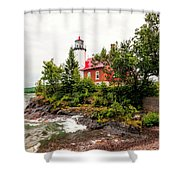 Eagle Harbor Lighthouse No 2 Shower Curtain