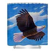 Eagle Heart II Shower Curtain
