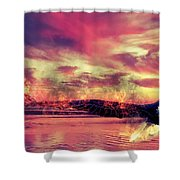 Eagle In Fire Shower Curtain