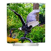 Eagle In The Garden Shower Curtain