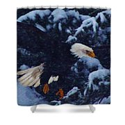 Eagle In The Storm Shower Curtain