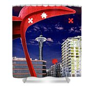 Eagle Needle Shower Curtain