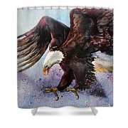Eagle Of Light Shower Curtain