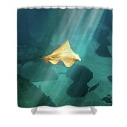 Eagle Ray Underwater Shower Curtain