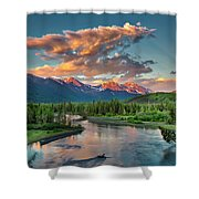 Eagle River Sunset  Shower Curtain