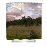 Eagle Rock Estes Park Colorado Shower Curtain