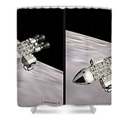 Eagle Shuttle - Gently Cross Your Eyes And Focus On The Middle Image Shower Curtain