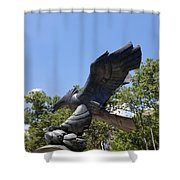 Eagle Statue  Shower Curtain