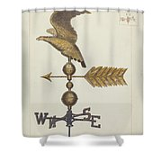 Eagle Weather Vane Shower Curtain
