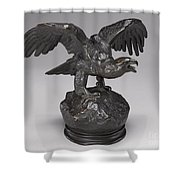 Eagle With Wings Outstretched And Open Beak Shower Curtain
