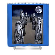 Eagleman Poles Shower Curtain