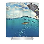 Eaglenfish Shower Curtain