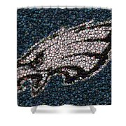 Eagles Bottle Cap Mosaic Shower Curtain