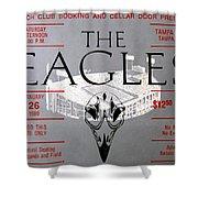Eagles Concert Ticket 1980 Shower Curtain