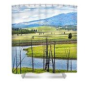 Eagles View, Hayden Valley, Yellowstone Shower Curtain