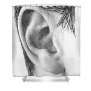 Ear Study Shower Curtain