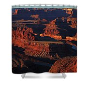 Early Morning Light Hits Dead Horse Point State Park Shower Curtain