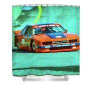 Early 1980s Mercury Capri Scca Trans-am Racer Shower Curtain