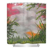 Early Autumn Moon Shower Curtain