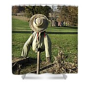 Early Autumn Scarecrow Shower Curtain