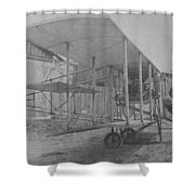 Early Aviation Shower Curtain