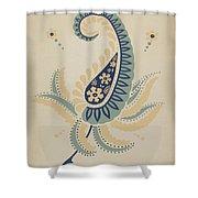 "Early Californian Skirt From The Portfolio ""decorative Art Of Spanish California"" Shower Curtain"