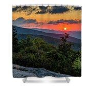 Blue Ridge Parkway Sunrise - Beacon Heights - North Carolina Shower Curtain