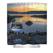 Early Drink Shower Curtain