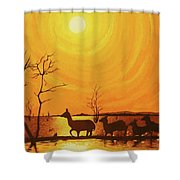 Early Dusk Shower Curtain