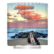Early Evening At The Beach Shower Curtain