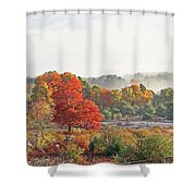 Early Fall Morning Shower Curtain