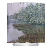 Early Fall Serenity Shower Curtain