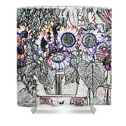 Early Flower Study Shower Curtain