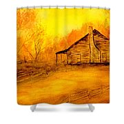 Early Kentucky Times Shower Curtain