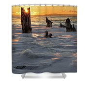 Early March Sleeping Giant Sunrize Shower Curtain