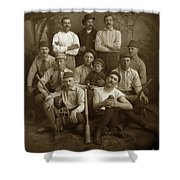 Early Monterey Baseball Team Circa 1895 Shower Curtain