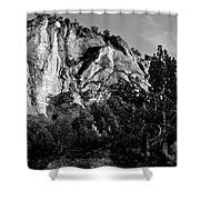 Early Morining Zion B-w Shower Curtain